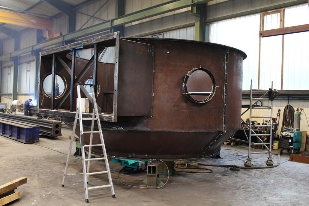 Casting furnace hood