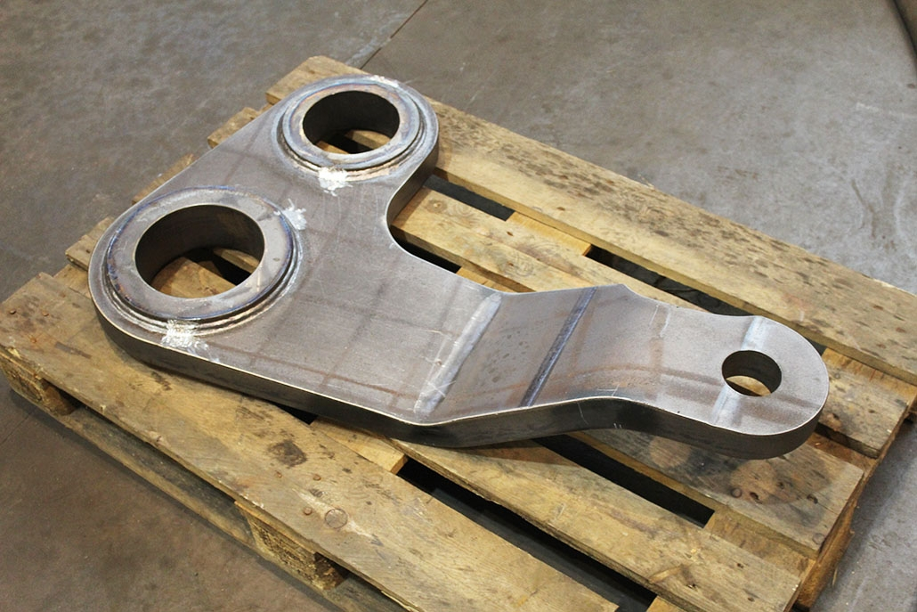 Bent parts made of S355; sheet thickness 20 mm