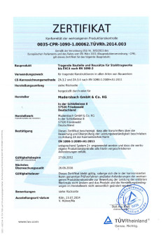 General certification as per EN 1090-1 EXC 4