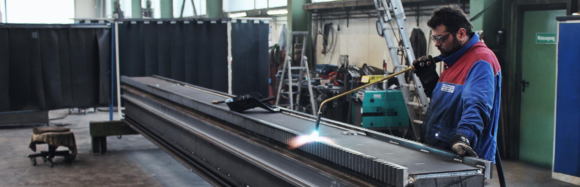 Maschinenbau, Schweißkonstruktionen, Schweißarbeiten