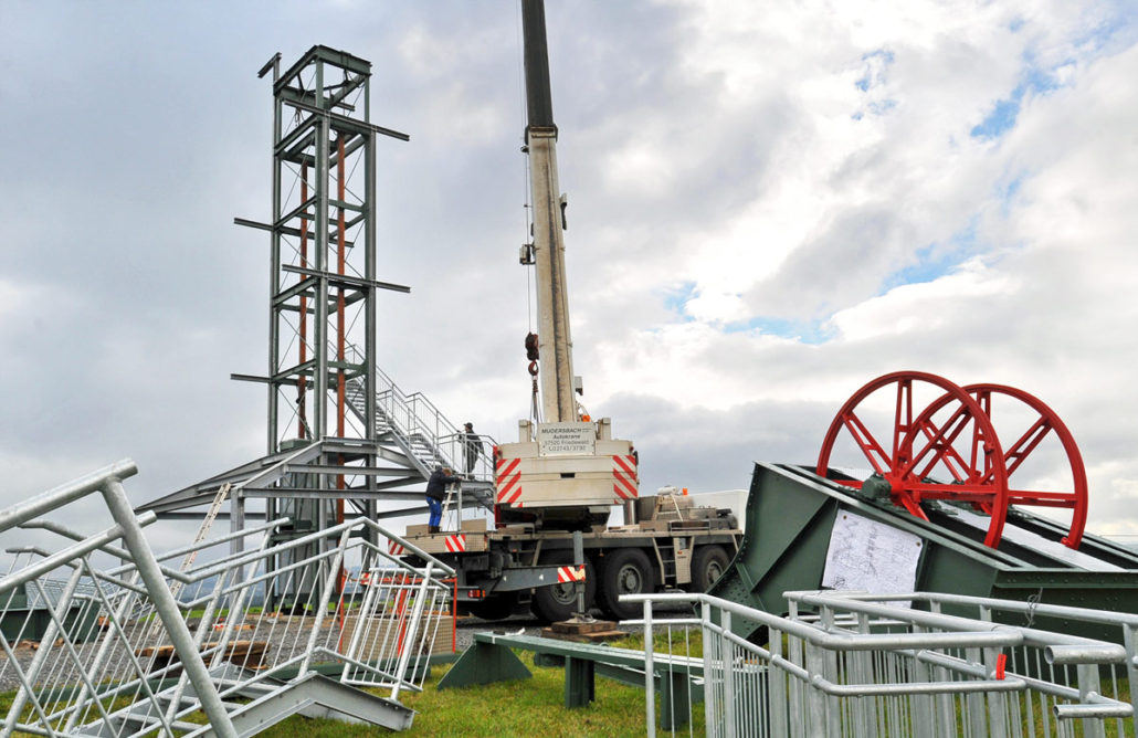 Montage Aussichtsturm (Barbaraturm)