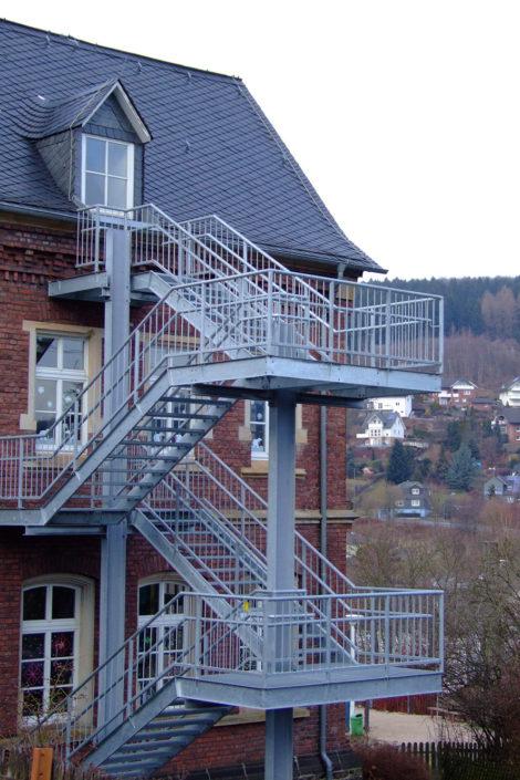 Fertig montierte Treppenanlage