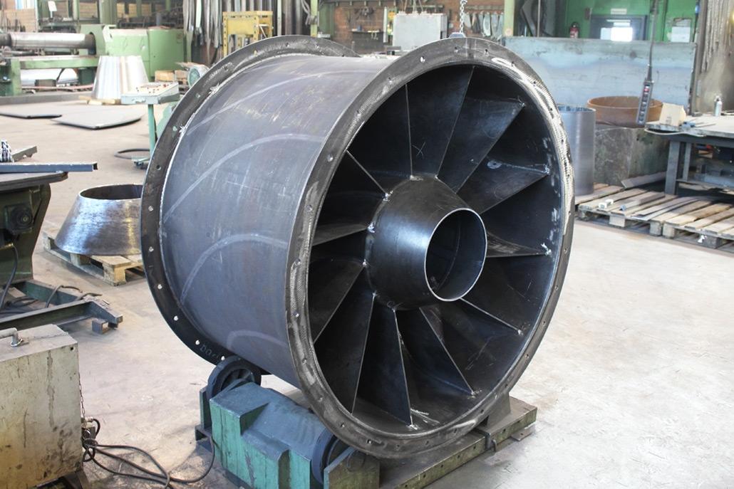 Ventilatorengehäuse für die Recycling-Industrie aus HB400