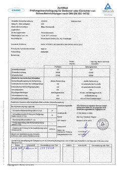 Exemplarische Bedienerprüfung DIN EN ISO 14732