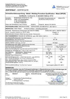 Eine exemplarische Schweißverfahrensprüfung -Zertifikat DIN EN ISO 15614 -1 mit WPS (Welding Procedure Specification)